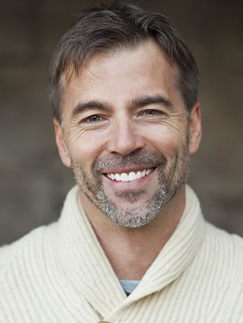 man with cosmetic dentistry smile