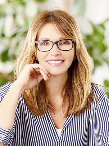 Woman with professionally whitened teeth